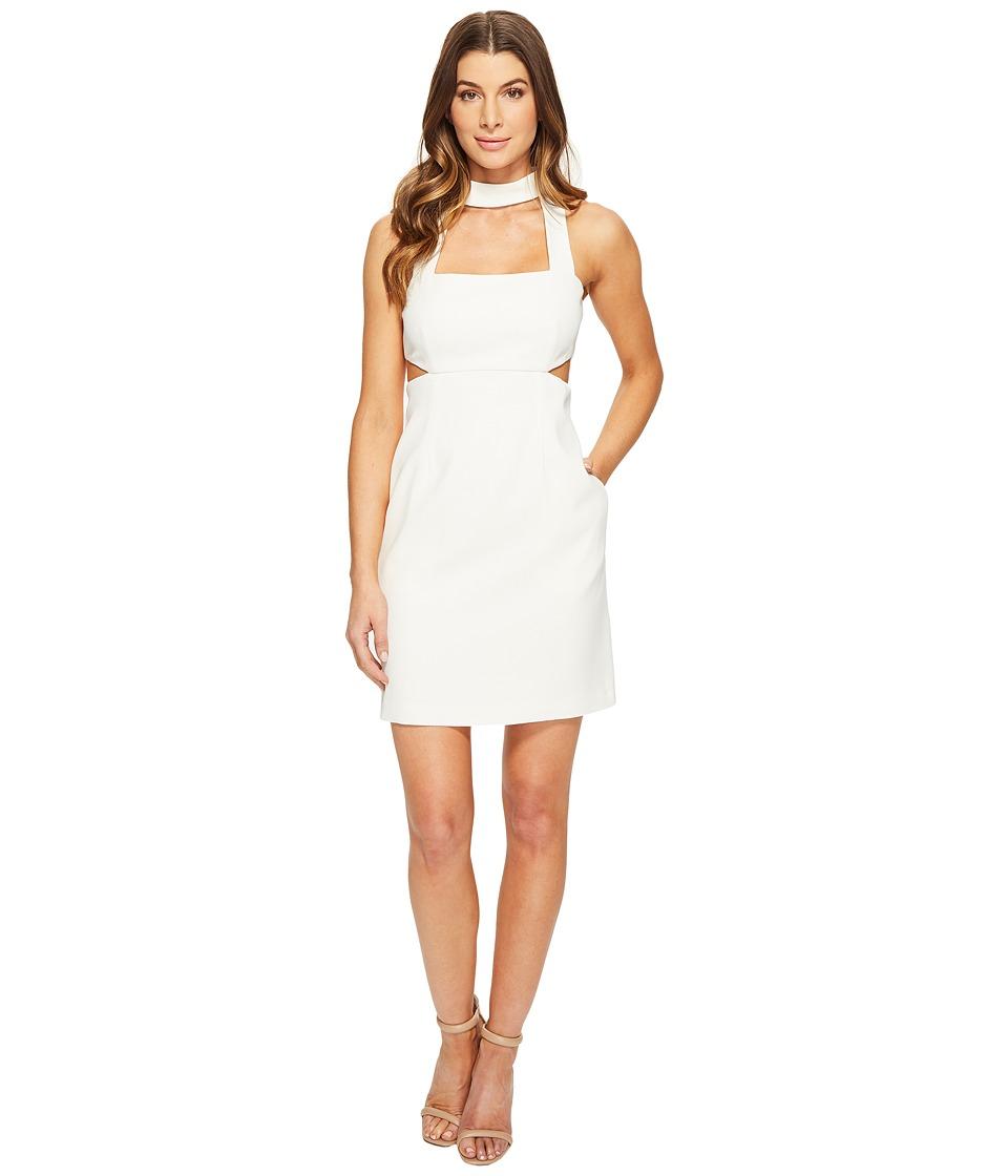 JILL JILL STUART Short Crepy Dress with Choker (Off-White) Women