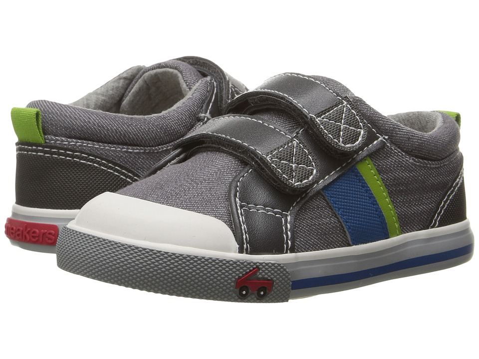 See Kai Run Kids - Russell (Toddler) (Gray Denim) Boys Shoes