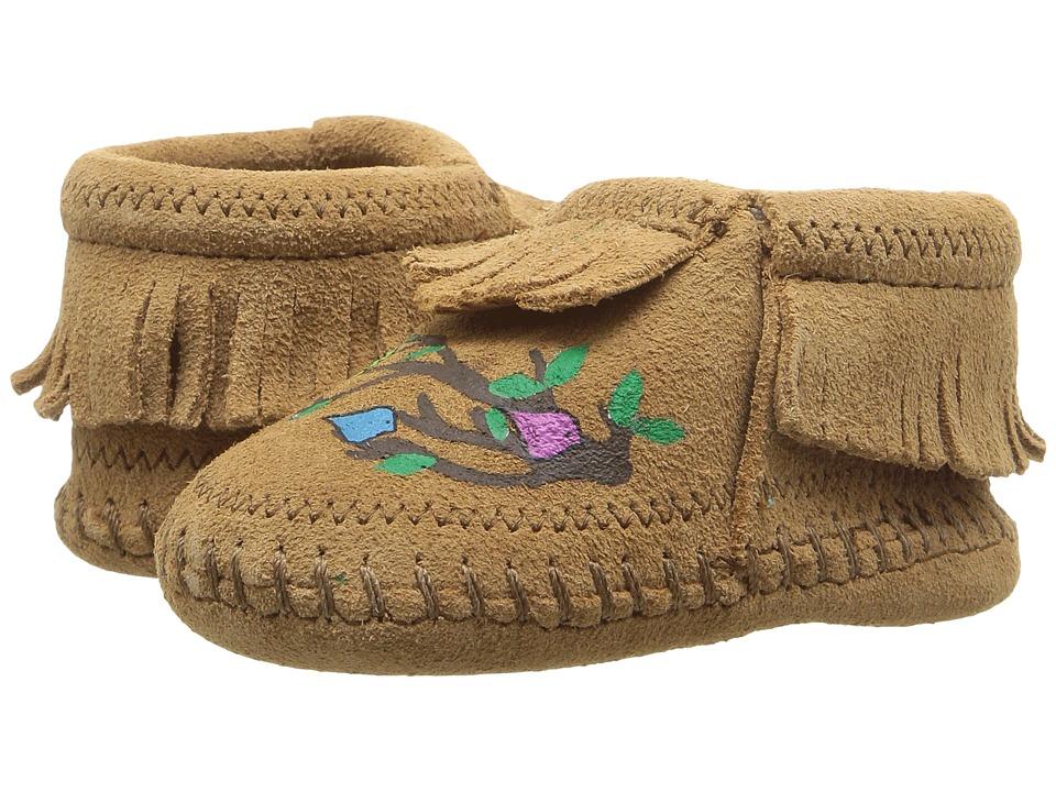 Minnetonka Kids Free Range Mama We Are Family (Infant) (Taupe) Kid's Shoes