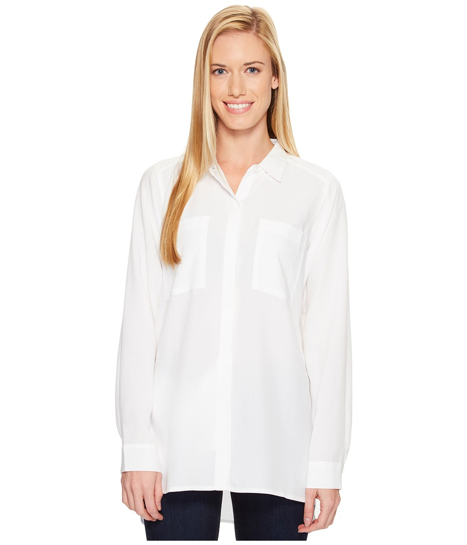 ExOfficio - Museo Tunic (White) Womens Long Sleeve Button Up
