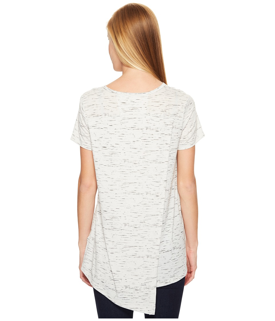 ExOfficio Wanderlux V-Neck Short Sleeve Top (Platinum Marl) Women