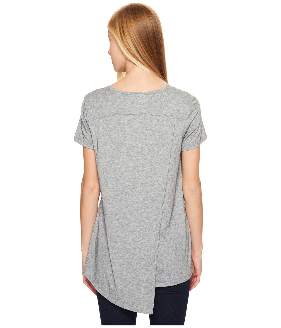 ExOfficio Wanderlux V-Neck Short Sleeve Top (Grey Heather) Women