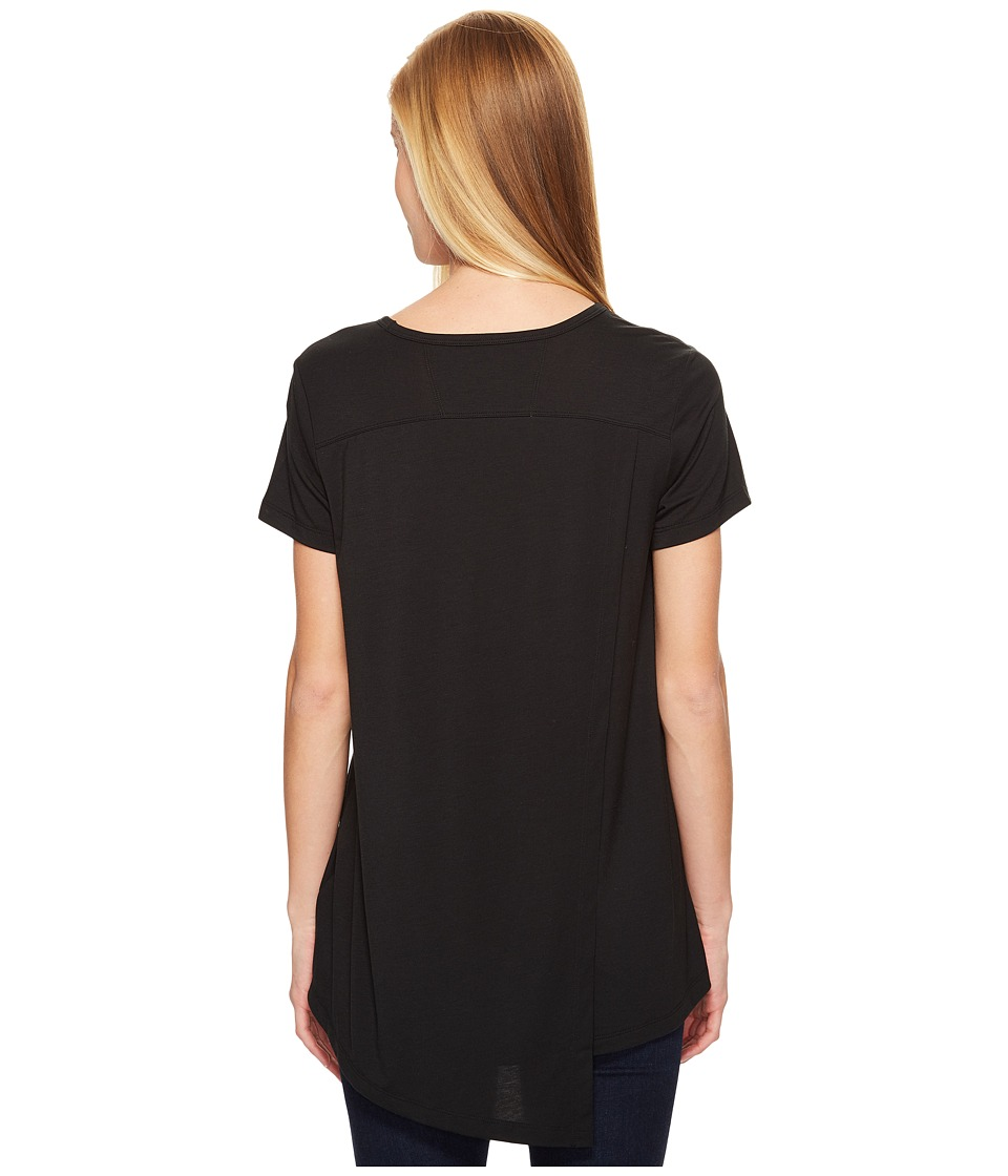 ExOfficio Wanderlux V-Neck Short Sleeve Top (Black) Women