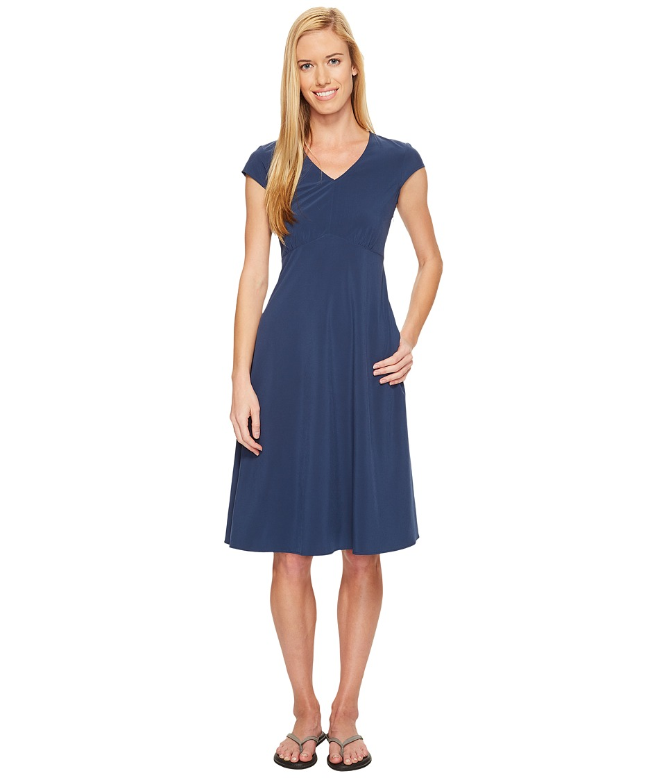 ExOfficio Kizmet Cap Sleeve Dress (Indigo) Women