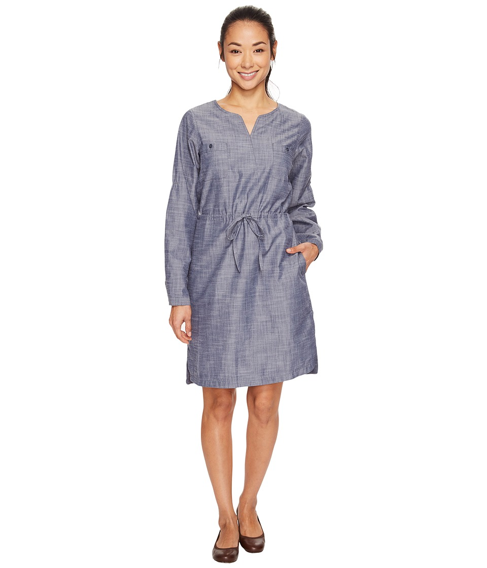 ExOfficio Sol Cool Chambray Dress (Indigo) Women