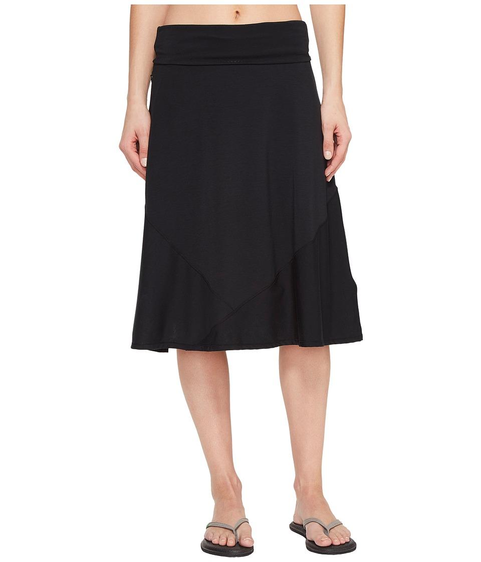 ExOfficio - Wanderlux Convertible Skirt (Black) Womens Skirt