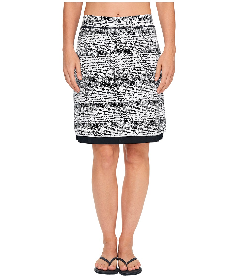 ExOfficio Wanderlux Reversible Print Skirt (Black/White) Women