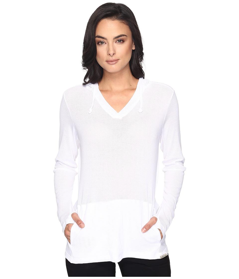 ExOfficio - BugsAway Lumen Hoodie (White) Womens Sweatshirt