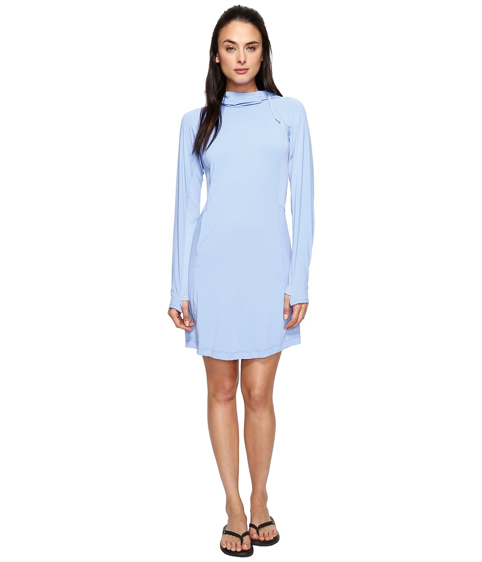 ExOfficio Sol Cool Performance Hoodie Dress (Cornflower) Women