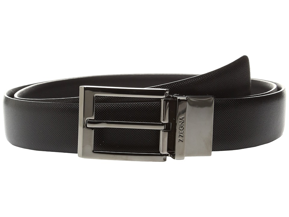 Zegna Adjustable/Reversible BSCAC1 32mm Belt (Black) Men'...