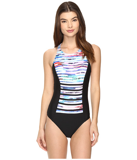 Next by Athena - Perfect Alignment Rejuvenate One-Piece (Black) Women's Swimsuits One Piece