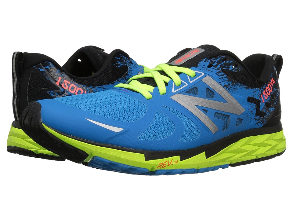New Balance 1500v3 (Electric Blue/Lime Glo/Black) Men's R...