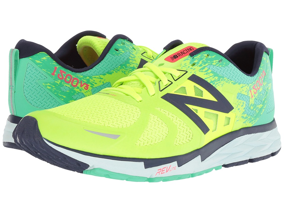New Balance 1500v3 (Lime Glo/Vivid Jade/Dark Denim) Women