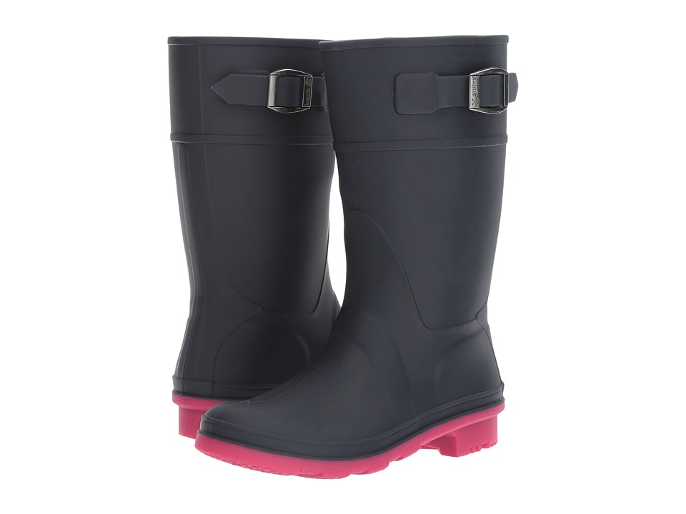 Kamik Kids Raindrops (Little Kid/Big Kid) (Navy/Rose) Girls Shoes