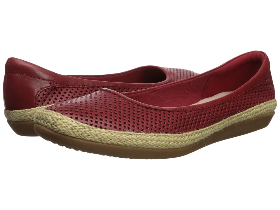 Clarks Danelly Adira (Red Leather) Women's Shoes