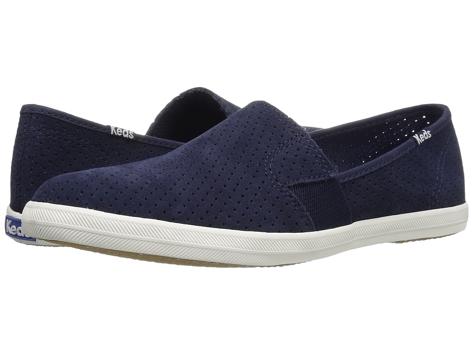 Keds Chillax A-Line Perforated Suede (Peacoat Navy) Women