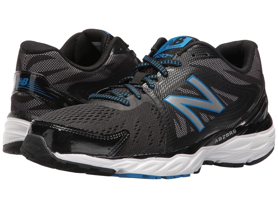 New Balance 680v4 (Black/White/Electric Blue) Men