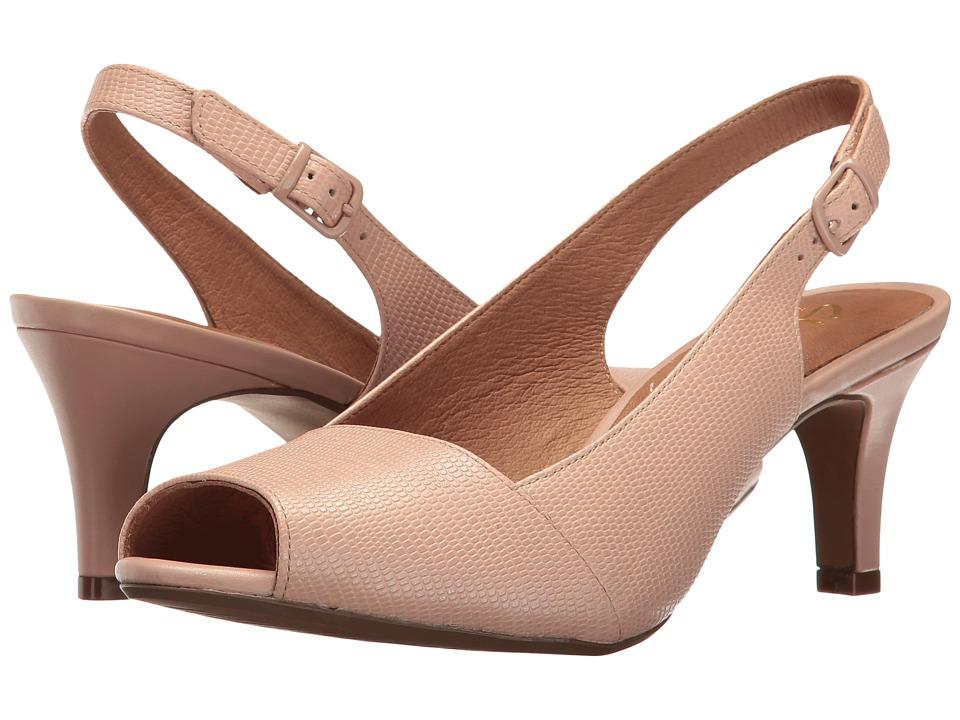 Clarks Heavenly Leah (Dusty Pink Lizard Leather) Women