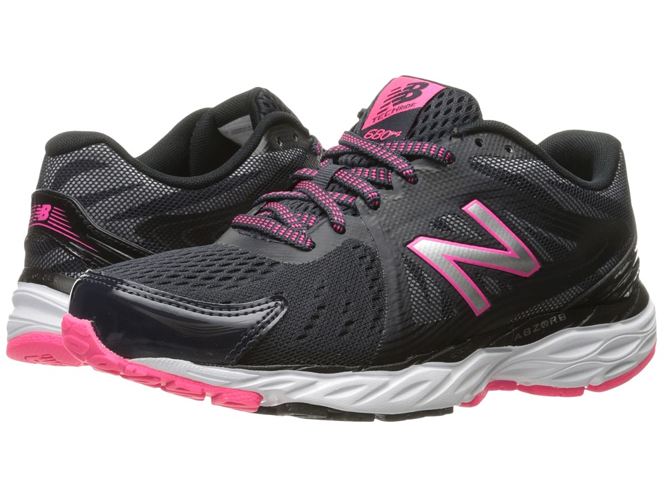New Balance 680v4 (Thunder/Black/Alpha Pink) Women's Runn...
