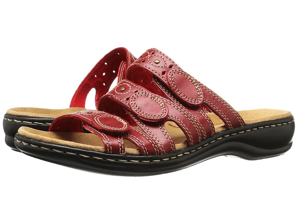 Clarks Leisa Cacti Q (Red Leather) Sandals