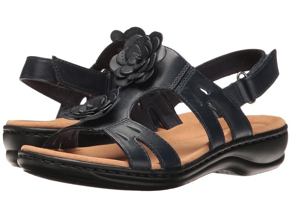 Clarks - Leisa Claytin (Navy Leather) Women's Sandals