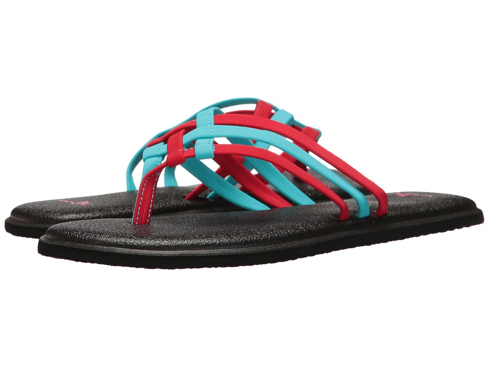 Sanuk Yoga Salty (Aqua/Bright Red) Women