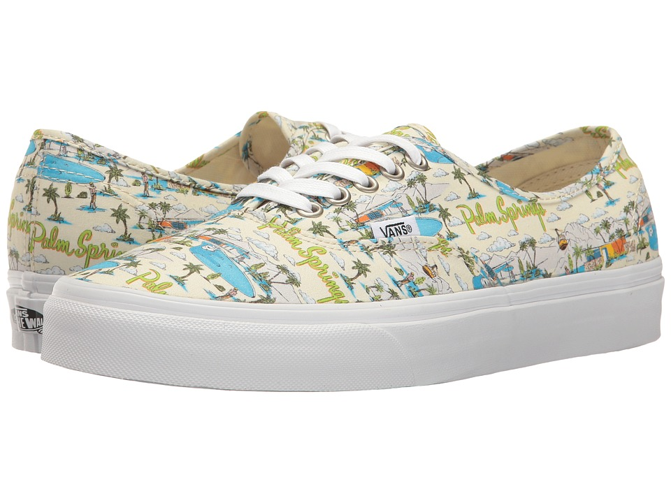 Vans Authentictm ((Palm Springs) Cloud Cream/True White) Skate Shoes