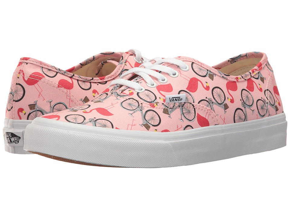 Vans Authentic Slim ((Spring Multi) Tropical Peach/True White) Athletic Shoes