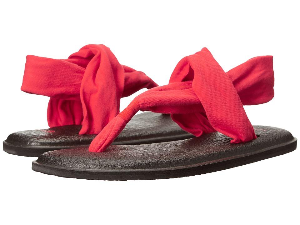 Sanuk Yoga Sling 2 (Bright Red) Sandals