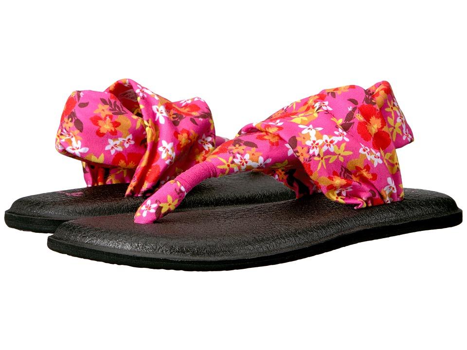 Sanuk Yoga Sling 2 Prints (Paradise Pink Waikiki Floral) Women