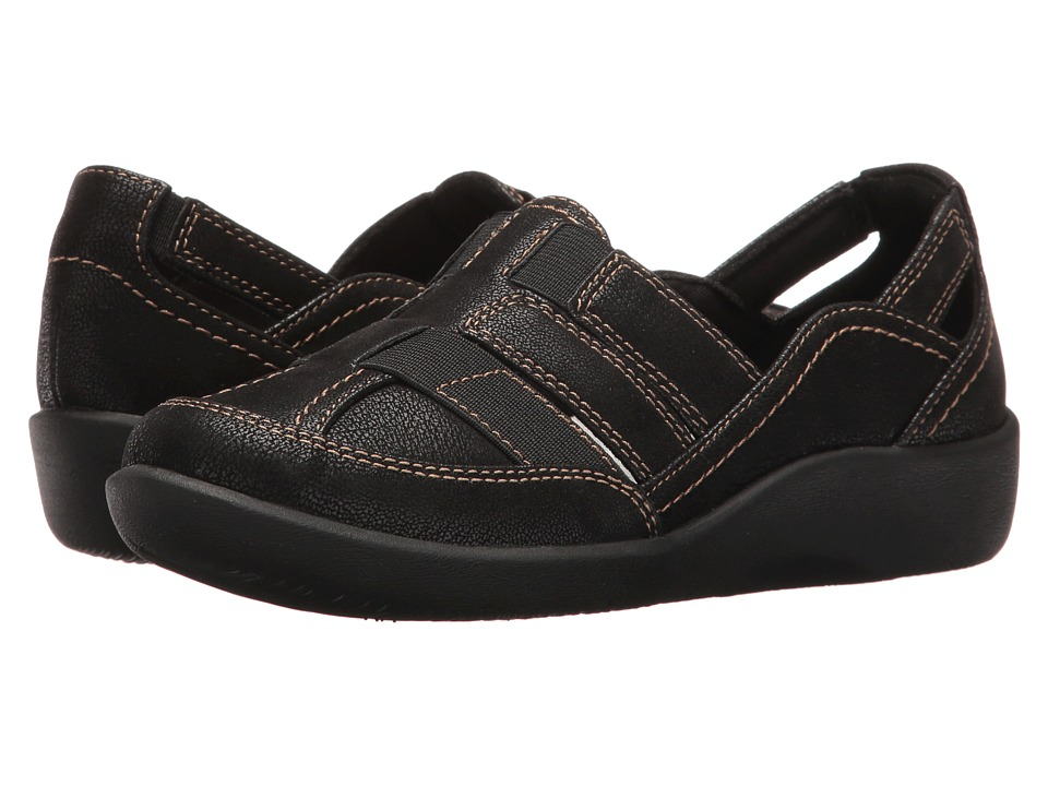 Clarks Sillian Stork (Black) Sandals