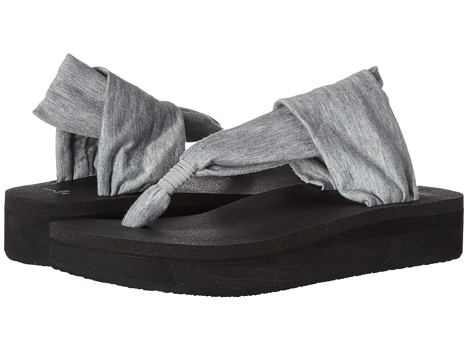 Sanuk Yoga Sling Wedge (Heather Grey) Women