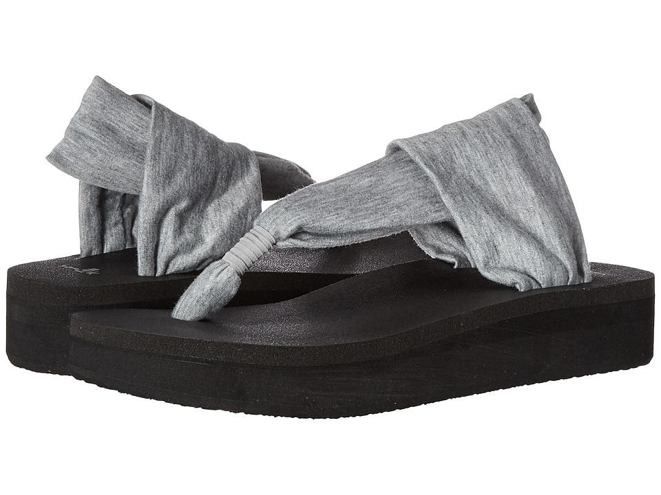 Sanuk Yoga Sling Wedge (Heather Grey) Sandals