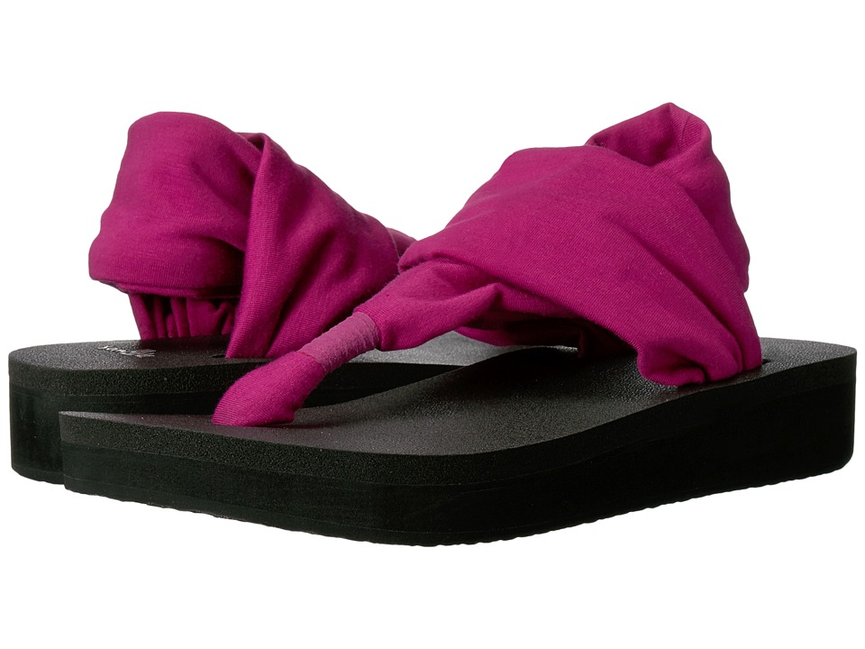 Sanuk Yoga Sling Wedge (Vivid Violet) Women
