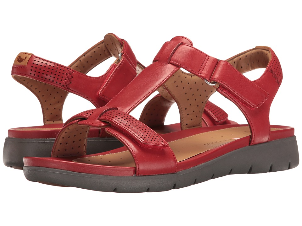 Clarks Un Haywood (Red Leather) Women