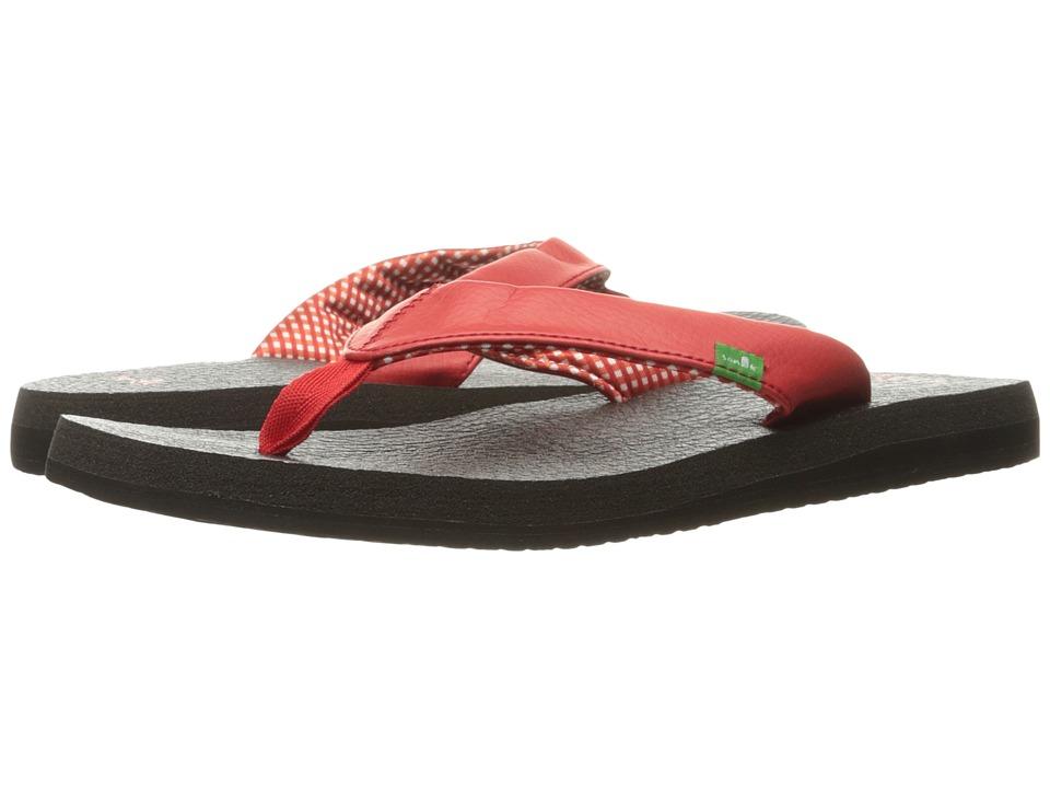 Sanuk Yoga Mat (Bright Red) Sandals