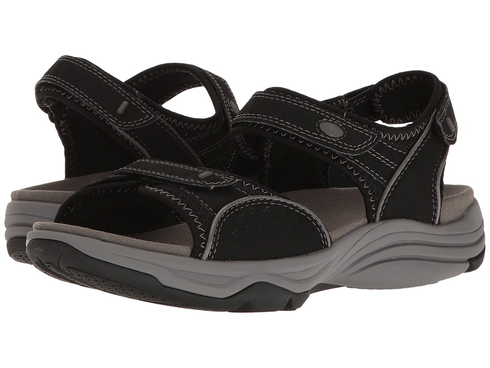 Clarks - Wave Grip (Black Synthetic) Women's Sandals