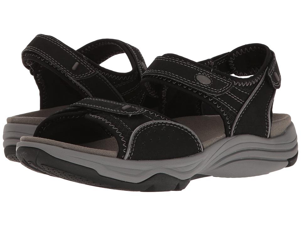 Clarks - Wave Grip (Black Synthetic) Women's Sandals