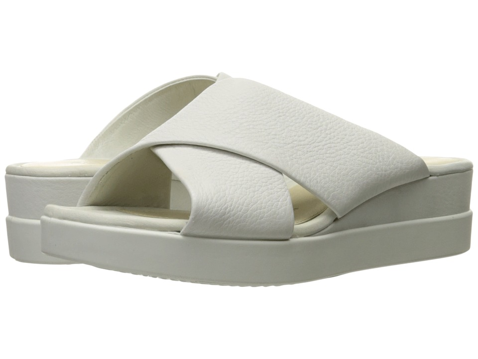 ECCO Touch Slide Sandal (White Cow Leather) Sandals