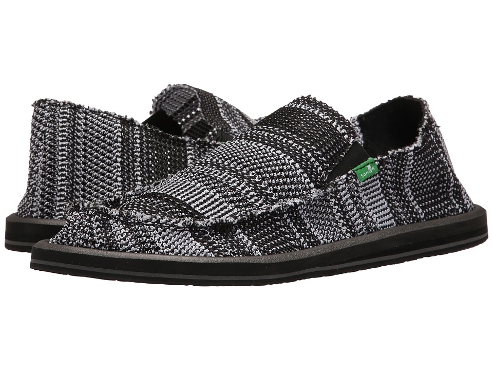 Sanuk Yew-Knit (Black/White) Men