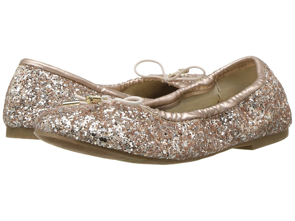 Sam Edelman Kids - Felicia Ballet (Little Kid/Big Kid) (Light Pink Blush Glitter) Girls Shoes
