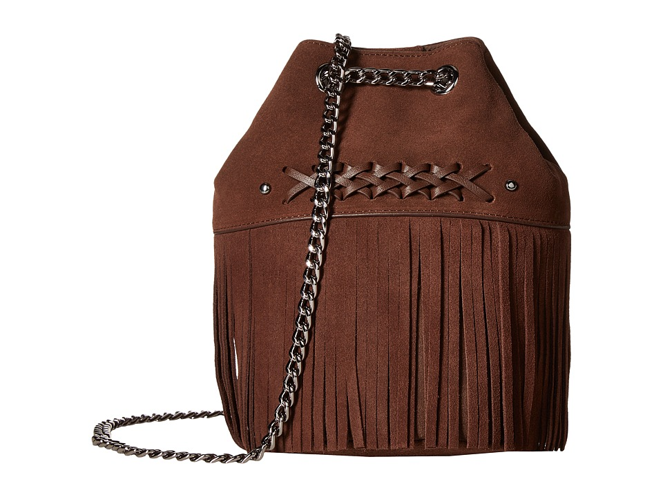 LAUREN Ralph Lauren - Barton Eloise Mini Drawstring (Burnished Brown) Drawstring Handbags