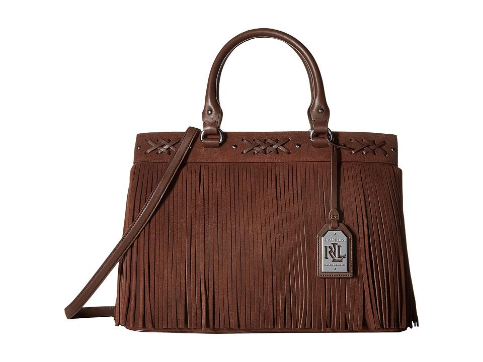 LAUREN Ralph Lauren - Barton Emery Tote (Burnished Brown) Tote Handbags