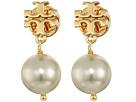 Tory Burch - Crystal Pearl Drop Earrings
