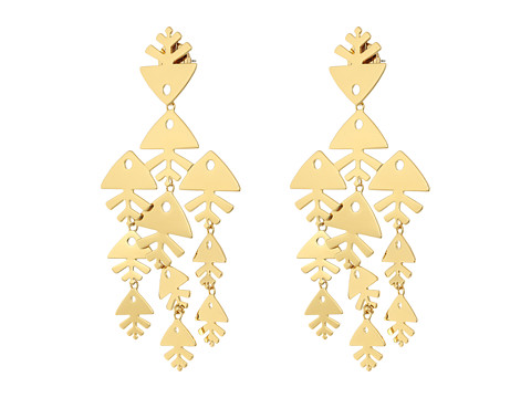 Tory Burch Metal Fish Chandelier Earrings - Tory Gold