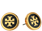 Tory Burch - Lacquered Logo Studs Earrings