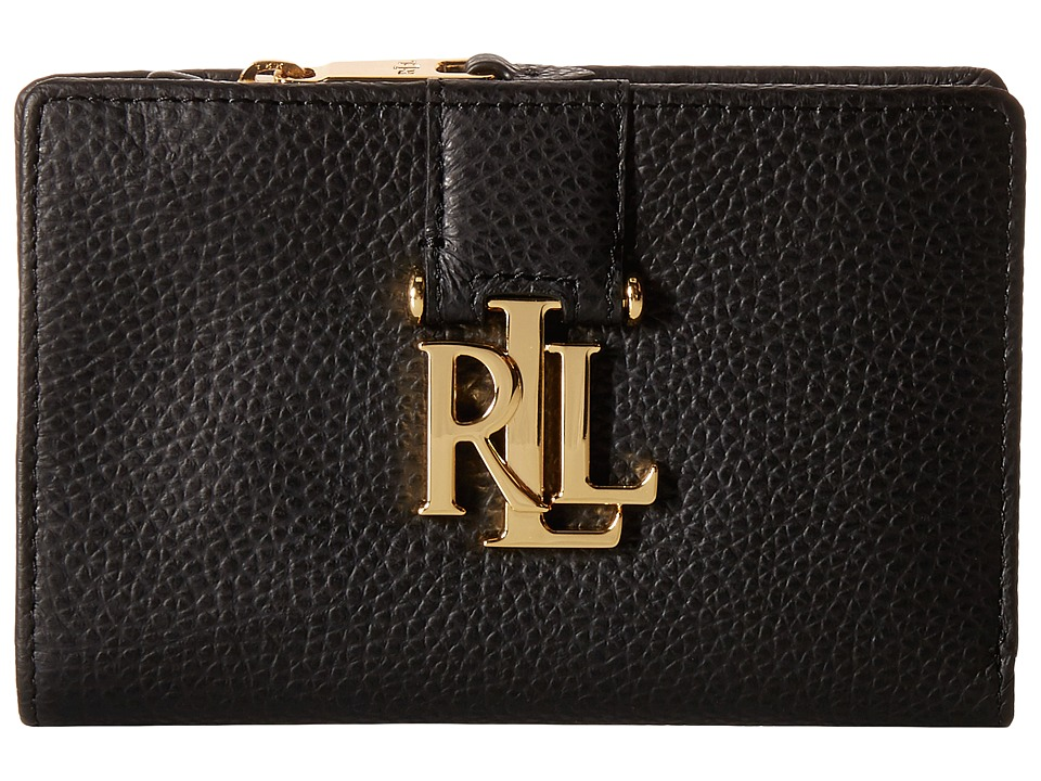 LAUREN Ralph Lauren - Carrington New Compact Wallet (Black) Wallet Handbags