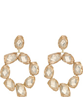 Tory Burch - Stone Abstract Wreath Earrings