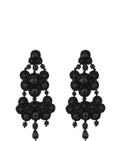 Tory Burch - Leather-Backed Beaded Chandelier Earrings