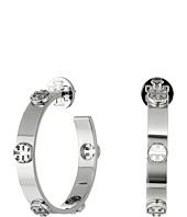 Tory Burch - Milgrain Logo Hoop Earrings
